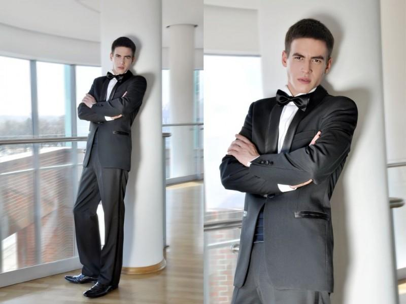czarny garnitur męski szyty na miarę